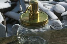 Clear Mason Jar Soap Dispenser wtih Shiny by HeritageTreeSoapCo, $19.95