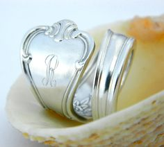 monogrammed spoon ring