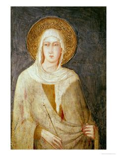 Five Saints  Detail of St Clare by Simone Martini.