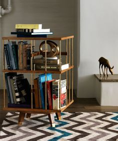 Dwell Studio for Precendent #bookcase #bookshelf #zigzag