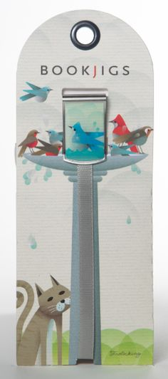 Bookjigs bird bath bookmark
