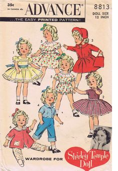 8813 Advance Doll Clothes PATTERN for Shirley by BlondiesSpot, $9.99