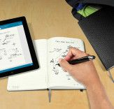This moleskine notebook turns your notes into digital files: http://bit.ly/1pqzwXa