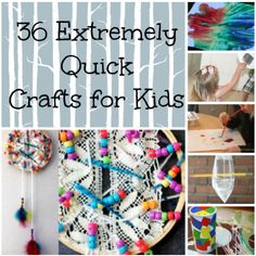 36 Quick and Easy Art Projects + Other Boredom Busters- great for after school activities or rainy weekend days! | AllFreeKidsCrafts.com