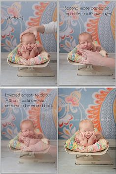 Awesome tutorial for combining two photos. And the cute baby on the vintage scale doesn't hurt either.