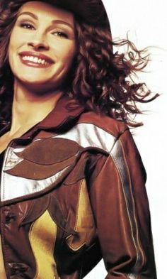 East West Musical Instruments leather jacket from Resurrection Vintage, worn by Julia Roberts