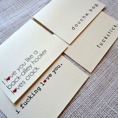 more super-love: Love/Hate Cards Set Of 4 now featured on Fab.