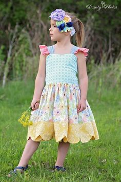 LaRae's Girls Boutique Scalloped Dress and Top PDF Pattern