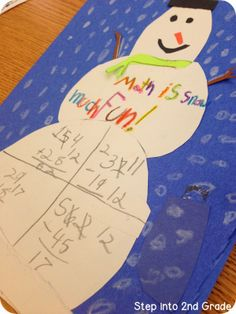Subtraction with Regrouping snowman