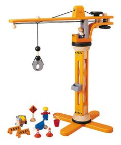 Take a look at this Crane Set by PlanToys on #zulily today!