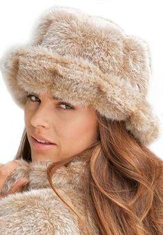 Wide Width Faux Fur Hat   Winter Accessories from Roamans
