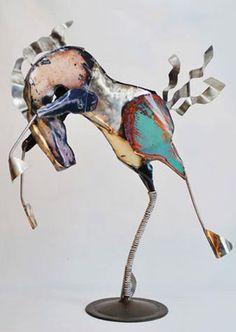 Metal #horse #sculpture by Doug Owen