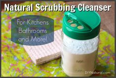 Natural scrubbing cleanser