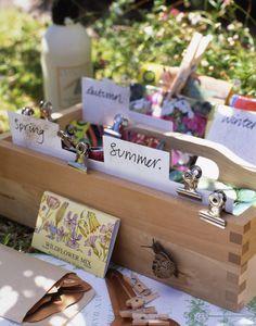 Seed planting box according to seasons