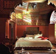 interior, moroccan bedroom, bedroom decorating ideas, moroccan style, ceilings