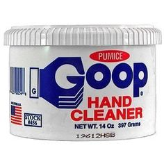 Secret stain-fighter! Goop Hand Cleaner! Who knew??
