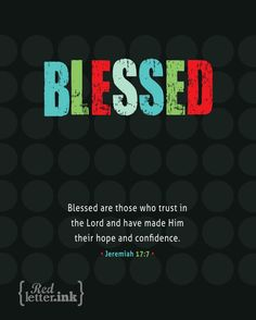 Jeremiah 17:7 Blessed Wall Art Print    RedLetterInk on Etsy