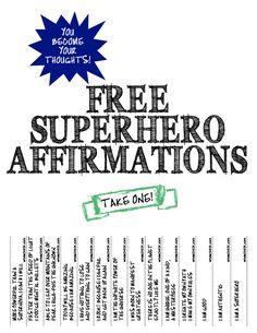 superhero affirmations