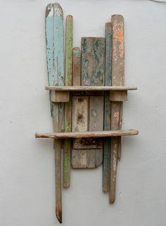 driftwood shelv, driftwood garden, garden art, driftwood idea, drift wood art