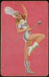 Vintage Baton Twirling Majorette Twirler Marching Band Twirl