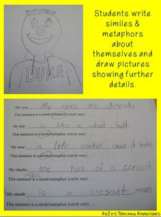 FREE Figurative Language printable to work on similes and metaphors!