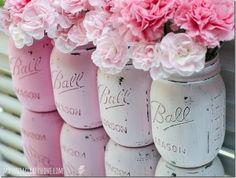 Painted Mason Jars: Pink - Mason Jar Crafts Love