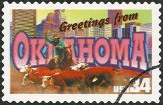 Oklahoma US Postage Stamp