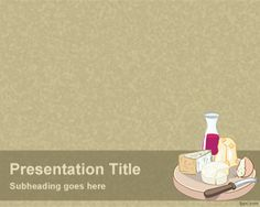 Cheese and Wine PowerPoint Template is a sepia background for PowerPoint presentations that can be used in presentations for food or presentations for wine and drinks