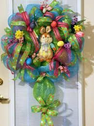 spring and Easter mesh wreaths -