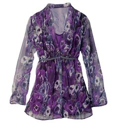Floral Printed Tunic  (available in 4 sizes)  Reg Price: $29.99    Flattering empire silhouette with adjustable tie. Get it today at:  www.youravon.com/abagtas