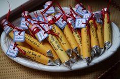 edible pencils for valentines day or teacher appreciation