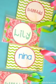 Back to School Tutorial! Personalize and print these Bag Tags for your child's Lunch Box and Backpack with this free template and simple instructions. Boy option as well.