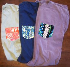 *New* Lilly Pulitzer Pocket Tees from Shirts by Abby! They can be monogrammed too!