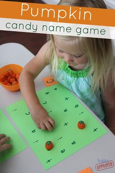 Toddler Approved!: Pumpkin Patch Candy Math Game