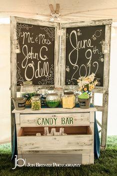 Wedding Reception Candy Bar Ideas   Party Ideas / Candy Bar at Wedding Reception