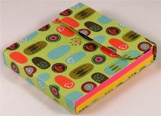 Sticky Note Post-It Note Holder - Carolyn Gavin Greenhouse Orange Brown Blue. $4.25, via Etsy.