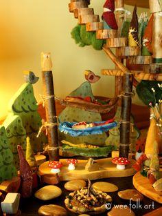 Gnome Bunk Beds   Wee Folk Art