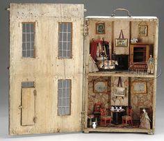 regenc dollhous, flora, georgian dollhous, front doors, circa 1810, antiqu dollhous, construction, doll houses, regency dollhouse