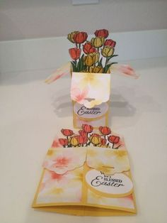 Card in a box using Scalloped Tag Topper Punch