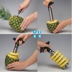 product, pineapples, pinapple recipes, idea, pineappl corer