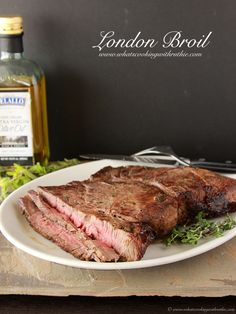 London Broil is so simple to make but tastes like you have worked all day! by www.whatscookingwithruthie.com