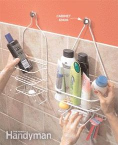 More shower shelves