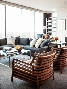 Contemporary living room via Mix and Chic