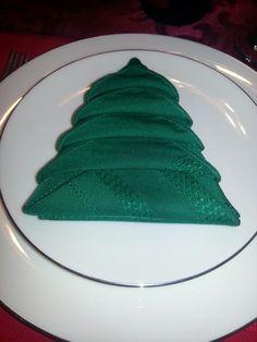 My sister did this cool napkin fold at Christmas