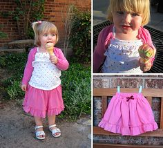 Made by Me Monday – Simple Knit Skirt with (under) Shorts {tutorial}