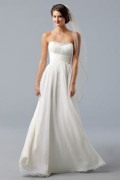Lovely and simple wedding dress