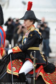 Princess Anne Trooping The Colour Ceremony  June 16, 2012