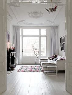 White living room ( Apartment in Amsterdam )