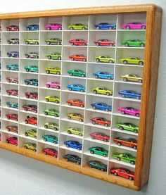 Hot Wheels Display Cases/Matchbox Display Case, Wonder if Larry can make one of these for his brother?