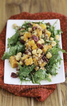 Quinoa, Butternut Squash, Chickpea, Apple, Roasted Beet Salad...vegan.